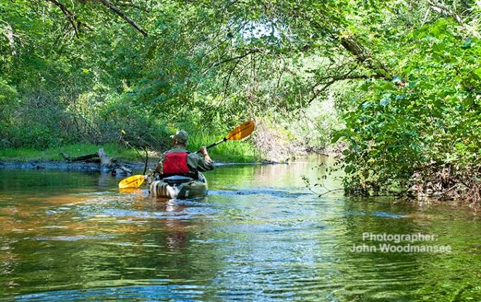 Kayaking Frying Pan Pond Arcadia John Woodmansee 8.25.14
