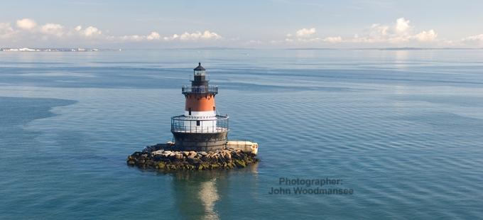North Kingstown, Plumb Beach Lighthouse Panarama - John Woodmansee